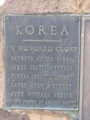 Korea Marker (Facing North) image. Click for full size.