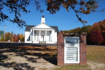 Padgett's Creek Baptist Church and Sign image. Click for full size.