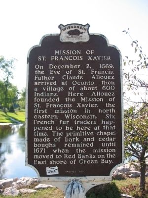 Mission of St. Francois Xavier Marker image. Click for full size.