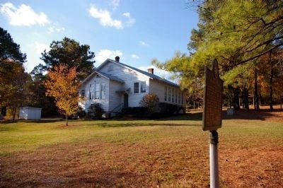 Noble Hill Rosenwald School Marker and the Rosenwald School Building image. Click for full size.
