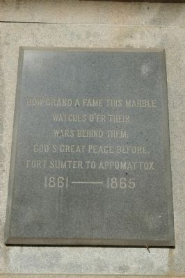 Spartanburg Confederate War Monument Marker image. Click for full size.