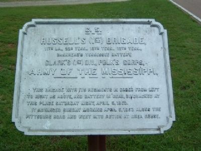 Russell's (1st) Brigade Marker image. Click for full size.