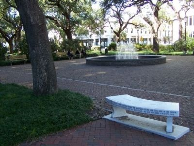 Johnson Square , The Johnny Mercer Bench image. Click for full size.
