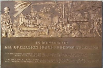 Operation Iraqi Freedom Veterans Memorial Marker image. Click for full size.