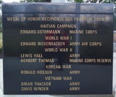 Medal of Honor Recipients for Franklin County image. Click for full size.