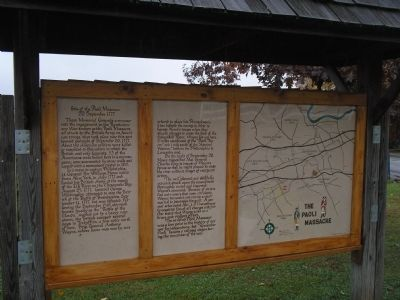 Site of the Paoli Massacre Marker with Map image. Click for full size.