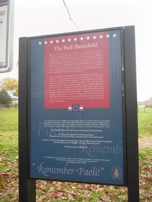 The Paoli Battlefield Marker image. Click for full size.