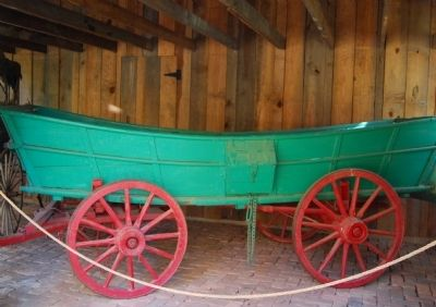 Rose Hill Mansion -<br>Carriage House, Wagon image. Click for full size.