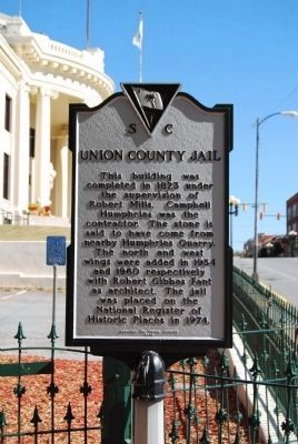 Union County Jail Marker - Reverse image. Click for full size.