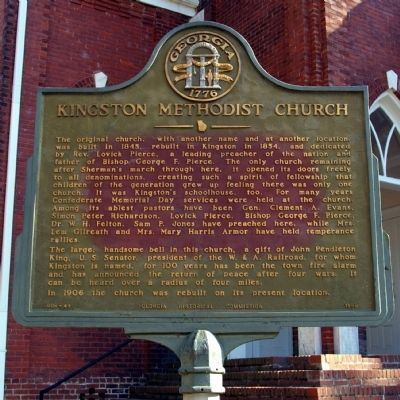 Kingston Methodist Church Marker image. Click for full size.