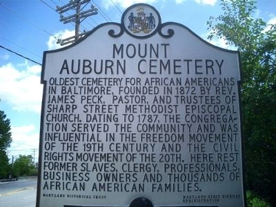 Mount Auburn Cemetery Marker Photo, Click for full size