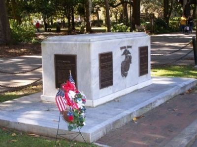 Savannah's Marine Corps Memorial Marker image. Click for full size.