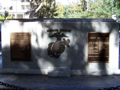 Savannah's Marine Corps Memorial Marker, South face image. Click for full size.