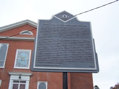 Christiana United Methodist Church Marker image. Click for full size.