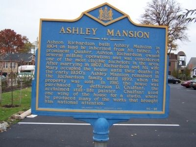 Ashley Mansion Marker image. Click for full size.