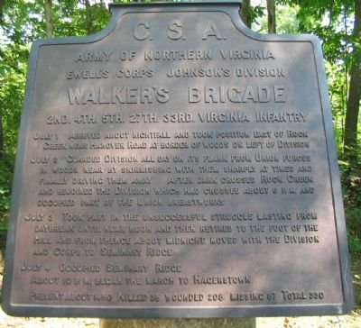 Walker's Brigade Tablet Photo, Click for full size
