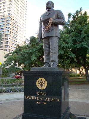 King David Kalākaua Monument image. Click for full size.