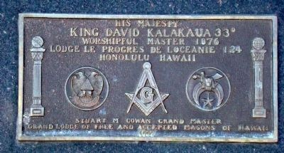 His Majesty King David Kalakaua 33° image. Click for full size.