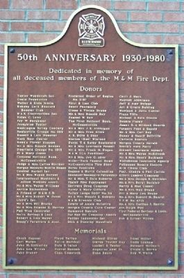 Malta & McConnelsville Fire Department 50th Anniversary Marker image. Click for full size.