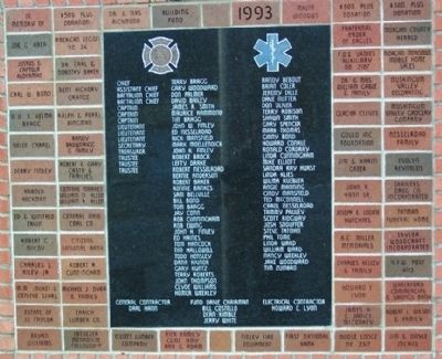 Malta & McConnelsville Fire Department 1993 Fund Drive Marker & Bricks image. Click for full size.