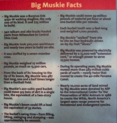 Big Muskie Facts on Marker image. Click for full size.