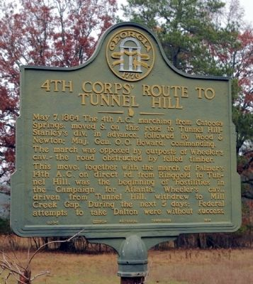 4th Corps' Route to Tunnel Hill Marker image. Click for full size.