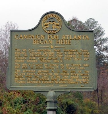 Campaign for Atlanta Began Here Marker image. Click for full size.