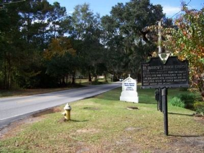St. Andrew's Parish Church Marker as seen traveling north on SC 61 Photo, Click for full size