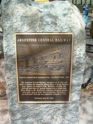 Argentine Central Railway Marker Photo, Click for full size