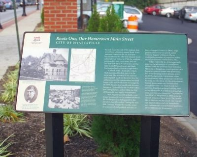 Route One, Our Hometown Main Street Marker image. Click for full size.