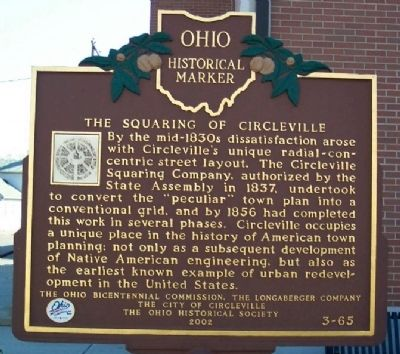 The Squaring of Circleville Marker (side B) image. Click for full size.