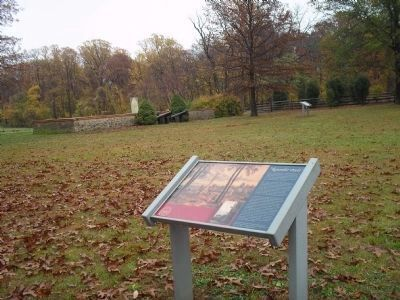 Marker on the Paoli Battlefield image. Click for full size.