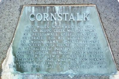 Cornstalk Marker Photo, Click for full size