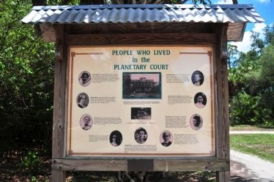 Planetary Court Info Board image. Click for full size.