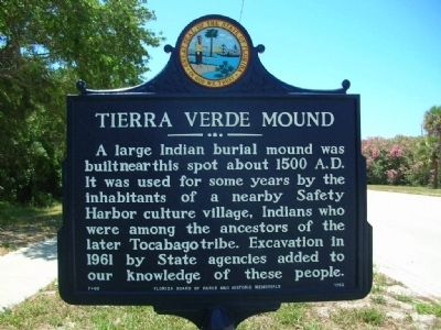 Tierra Verde Mound Marker image. Click for full size.