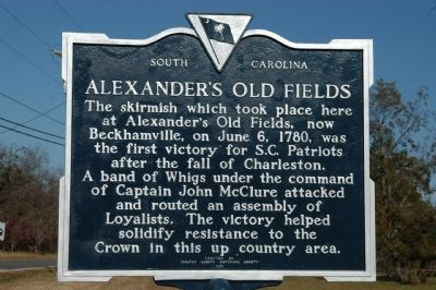 Alexander's Old Fields Marker Photo, Click for full size