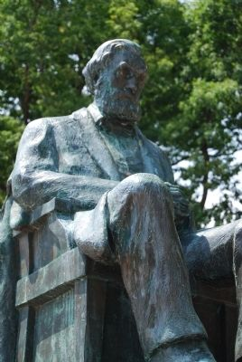 Thomas Green Clemson Statue<br>Tillman Hall, Clemson University Photo, Click for full size