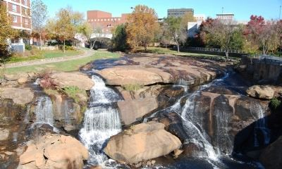 Reedy River Main Falls - From Liberty Bridge image. Click for full size.