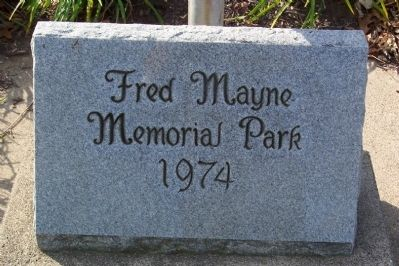 Fred Mayne Memorial Park Marker image. Click for full size.