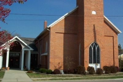United Brethren Church and Marker image. Click for full size.