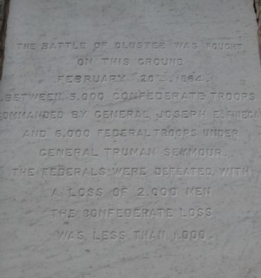 The Battle of Olustee Marker Photo, Click for full size