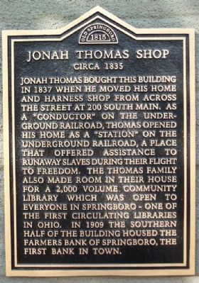 Jonah Thomas Shop Marker Photo, Click for full size
