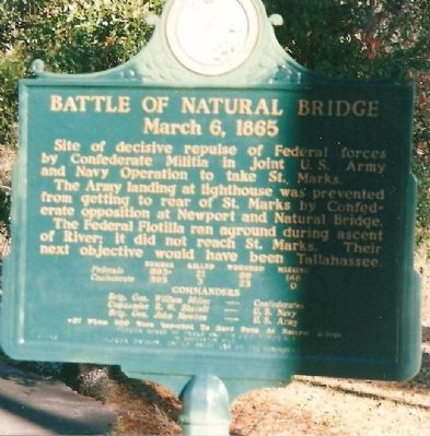 Battle of Natural Bridge Marker Photo, Click for full size