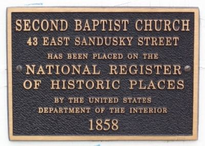 Second Baptist Church National Register Marker image. Click for full size.