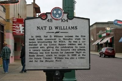 Nat D. Williams Marker image. Click for full size.