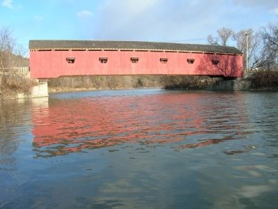 Buskirk's Red Covered Bridge Over the Hoosick River image. Click for full size.