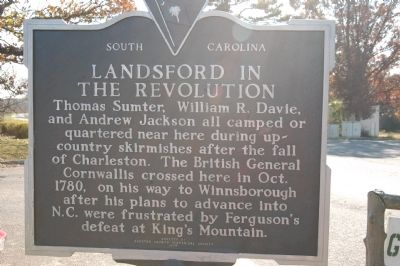 Landsford / Landsford In The Revolution Marker image. Click for full size.