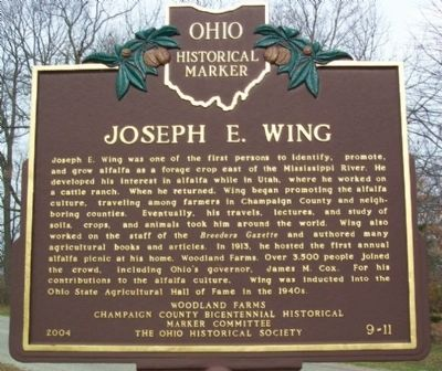 Joseph E. Wing Marker Photo, Click for full size