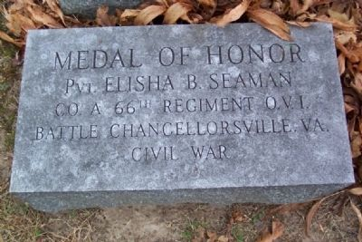 Elisha B. Seaman Medal of Honor Grave Marker image. Click for full size.