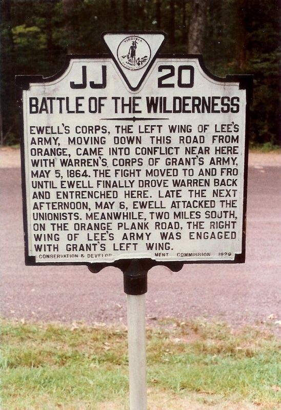 Battle of the Wilderness Marker image, Click for more information